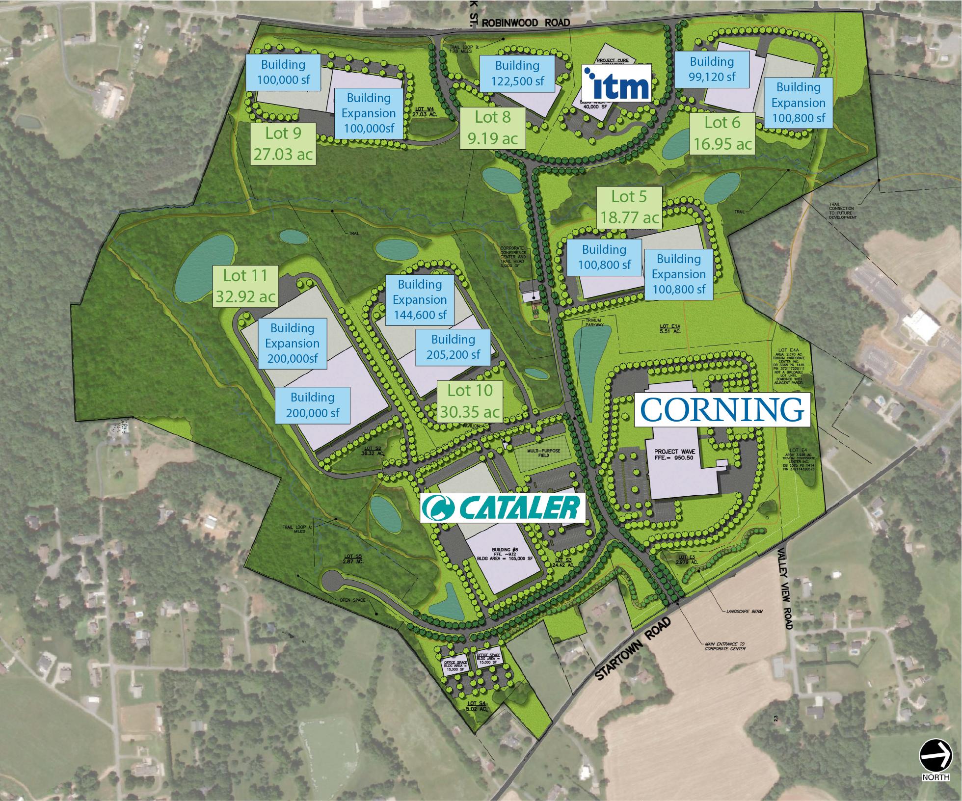 Site Plan for Trivium Corporate Center